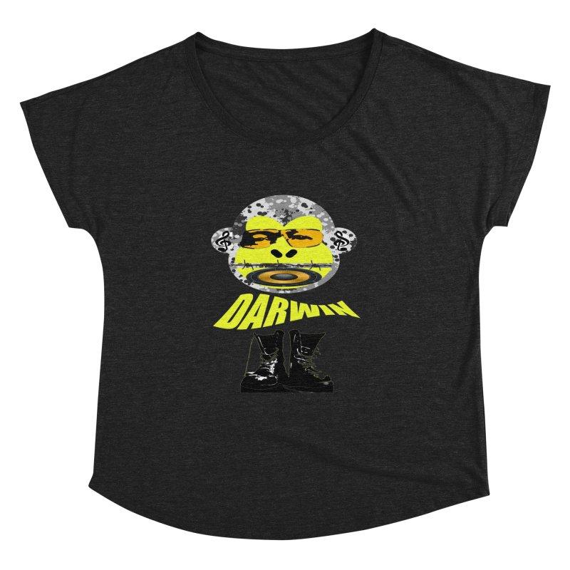 Darwin Monkey Women's Dolman Scoop Neck by View From Brooklyn T-Shirt Shop