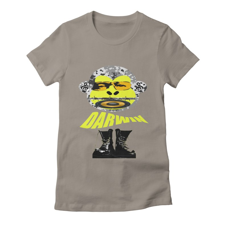 Darwin Monkey Women's Fitted T-Shirt by View From Brooklyn T-Shirt Shop
