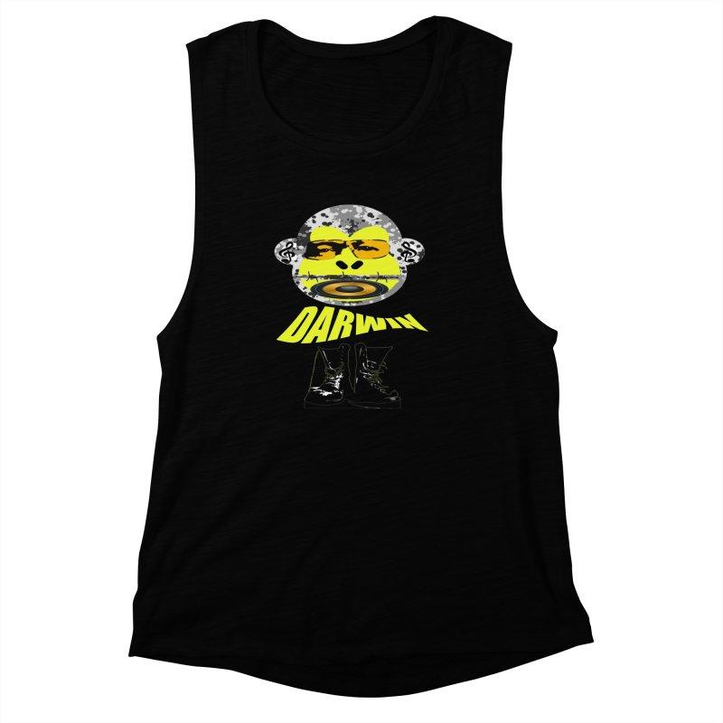Darwin Monkey Women's Muscle Tank by View From Brooklyn T-Shirt Shop
