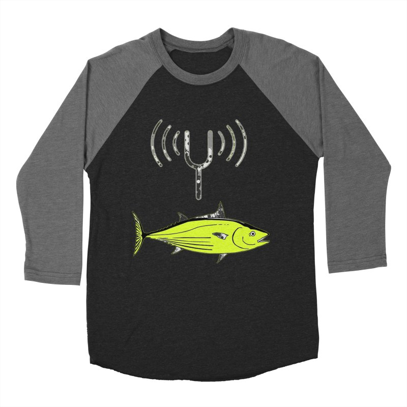 Tuner Fish Men's Baseball Triblend Longsleeve T-Shirt by View From Brooklyn T-Shirt Shop