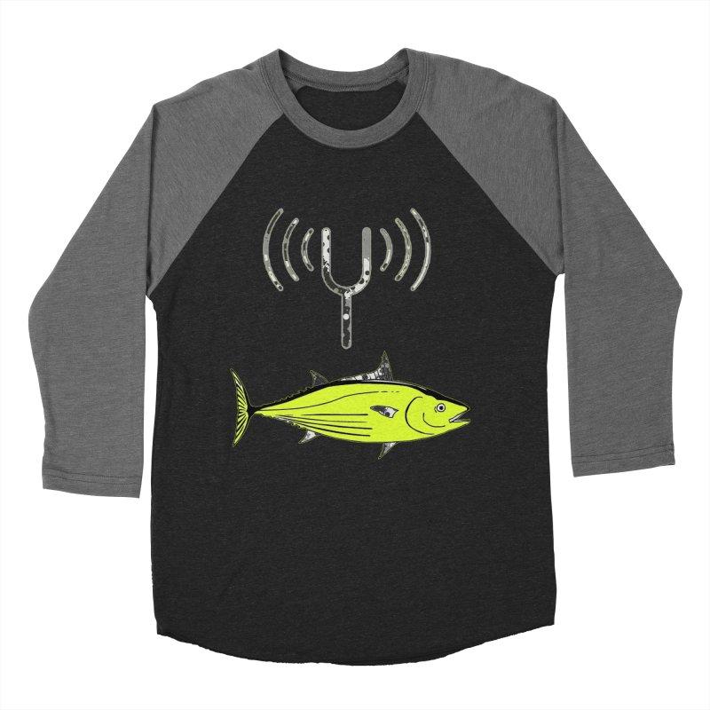 Tuner Fish Men's Baseball Triblend T-Shirt by View From Brooklyn T-Shirt Shop