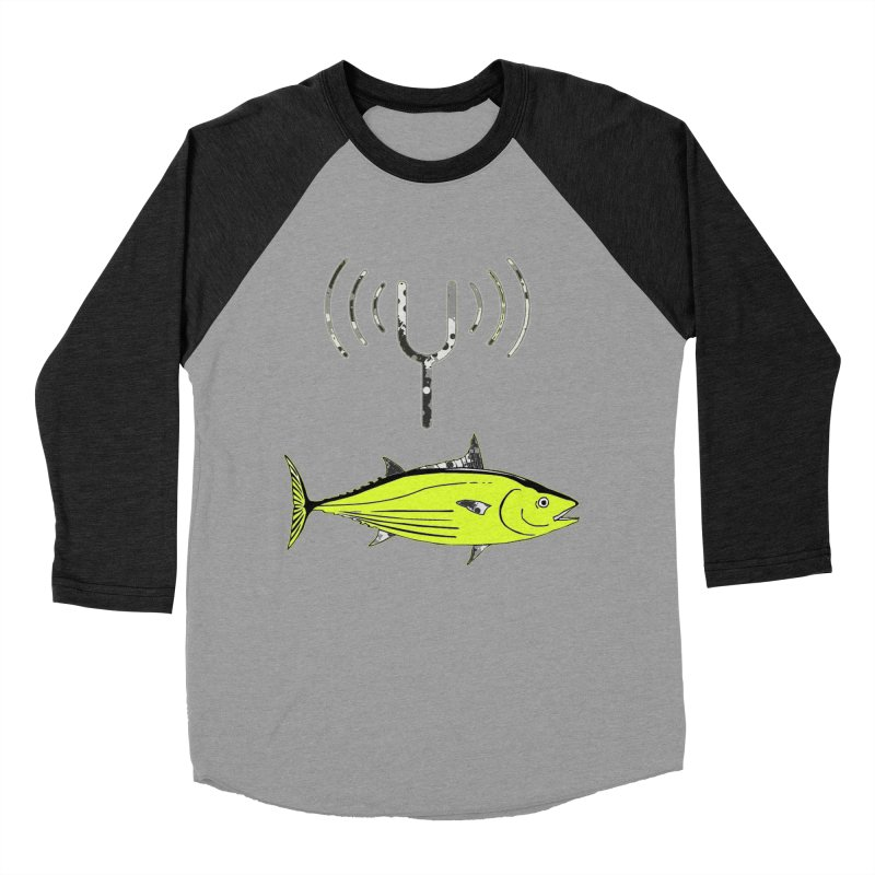 Tuner Fish Men's Baseball Triblend T-Shirt by View From Brooklyn T-Shirt Shop