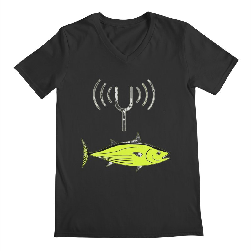 Tuner Fish Men's V-Neck by View From Brooklyn T-Shirt Shop