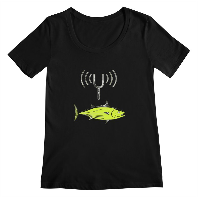 Tuner Fish Women's Scoopneck by View From Brooklyn T-Shirt Shop