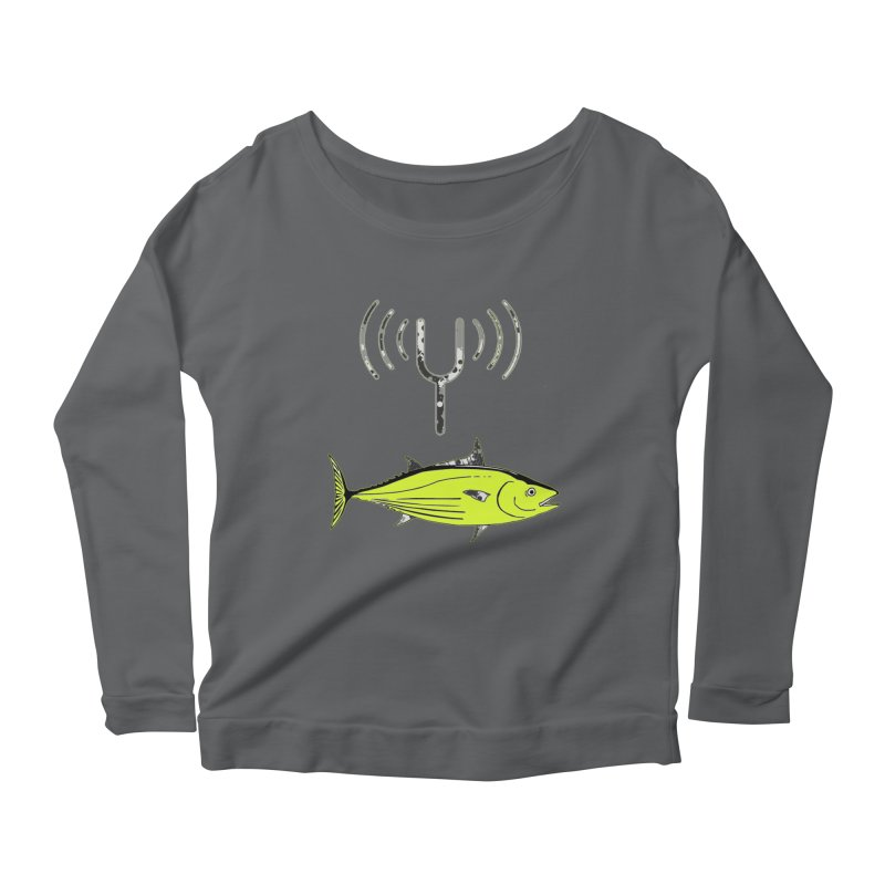 Tuner Fish Women's Scoop Neck Longsleeve T-Shirt by View From Brooklyn T-Shirt Shop