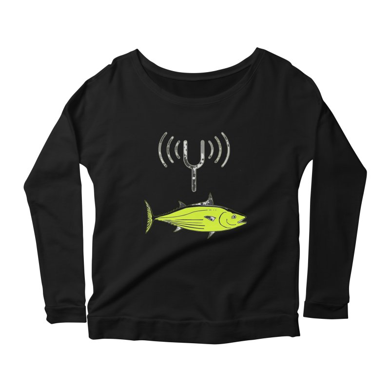 Tuner Fish Women's Longsleeve Scoopneck  by View From Brooklyn T-Shirt Shop