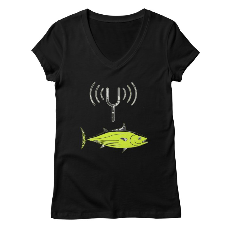 Tuner Fish Women's Regular V-Neck by View From Brooklyn T-Shirt Shop