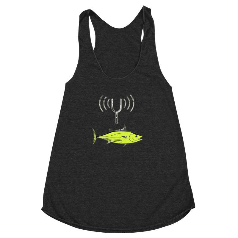 Tuner Fish Women's Racerback Triblend Tank by View From Brooklyn T-Shirt Shop