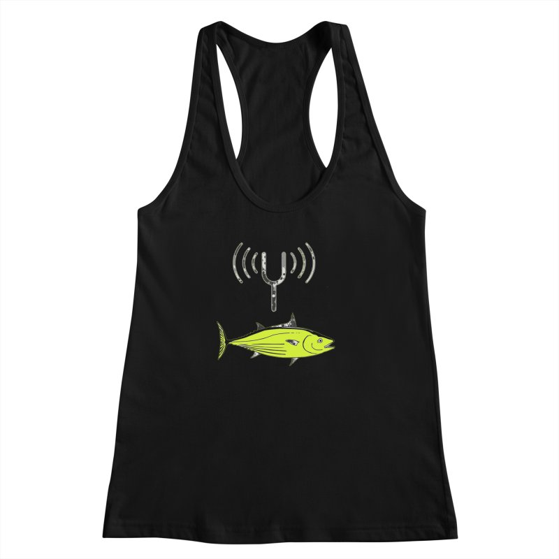 Tuner Fish Women's Racerback Tank by View From Brooklyn T-Shirt Shop