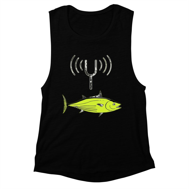 Tuner Fish Women's Muscle Tank by View From Brooklyn T-Shirt Shop