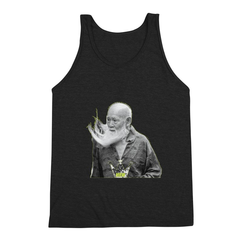 Blow Back Men's Triblend Tank by View From Brooklyn T-Shirt Shop