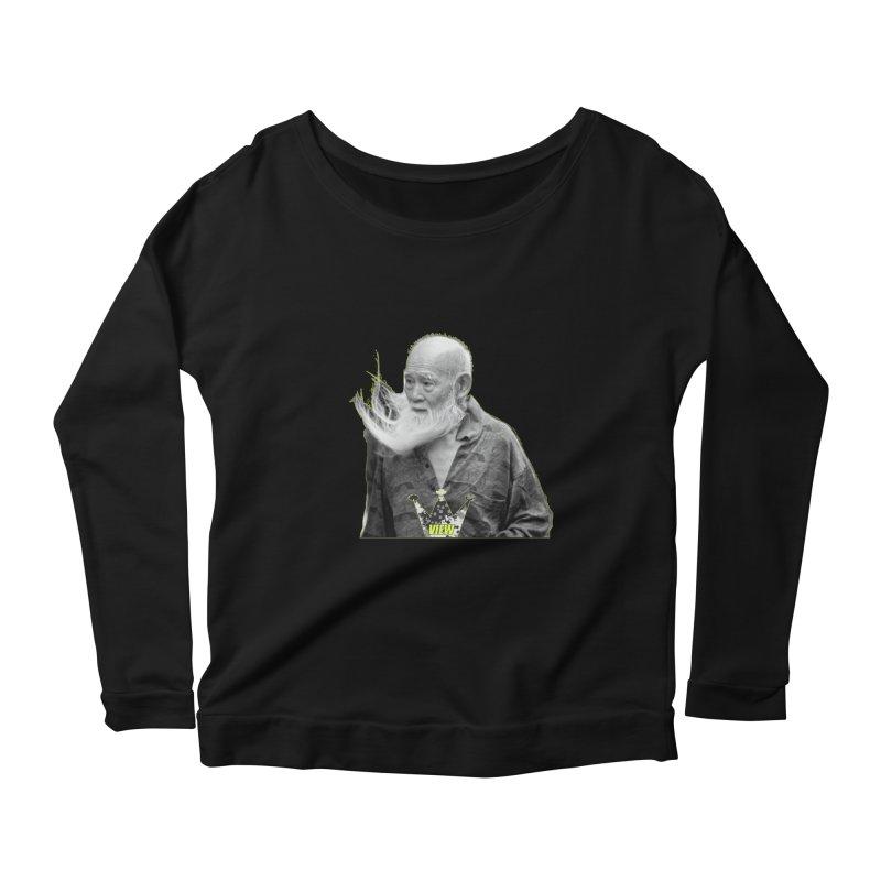 Blow Back Women's Longsleeve Scoopneck  by View From Brooklyn T-Shirt Shop
