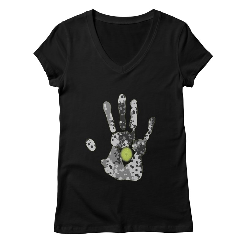 Hand of fate Women's V-Neck by View From Brooklyn T-Shirt Shop