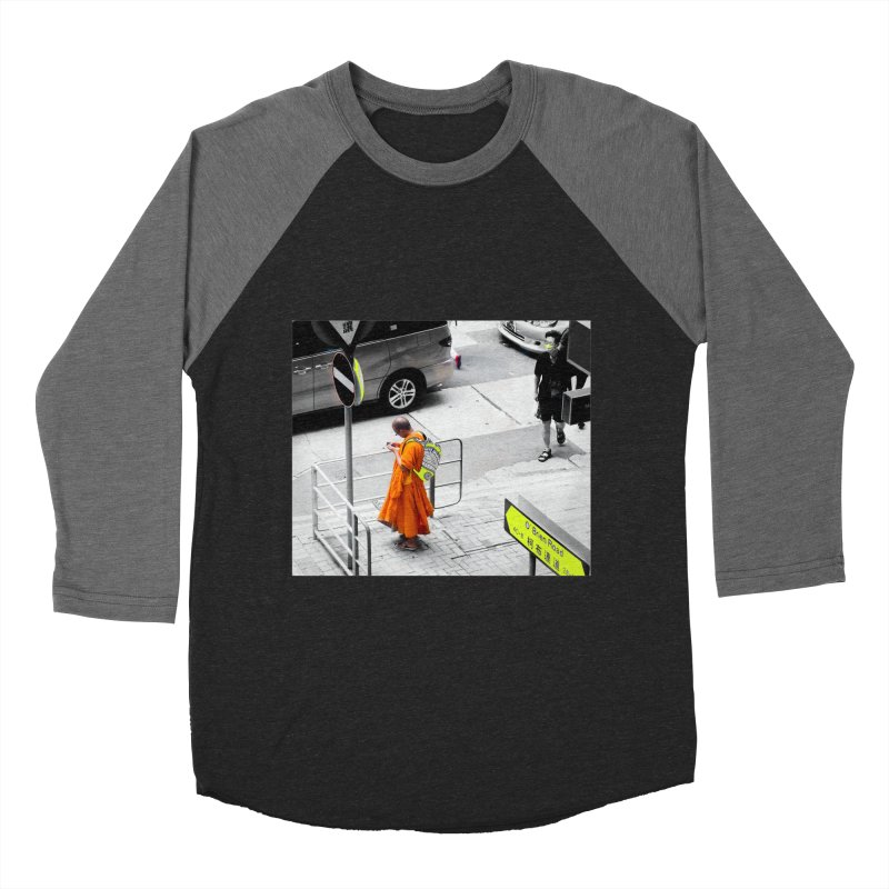 Digital Monk Women's Baseball Triblend Longsleeve T-Shirt by View From Brooklyn T-Shirt Shop