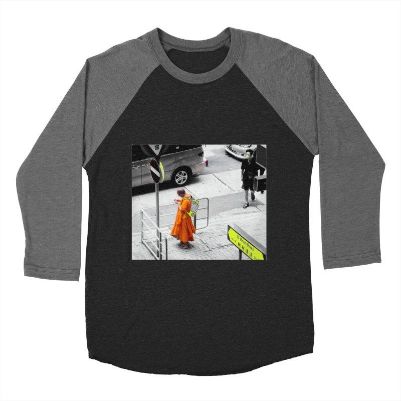 Digital Monk Men's Baseball Triblend Longsleeve T-Shirt by View From Brooklyn T-Shirt Shop