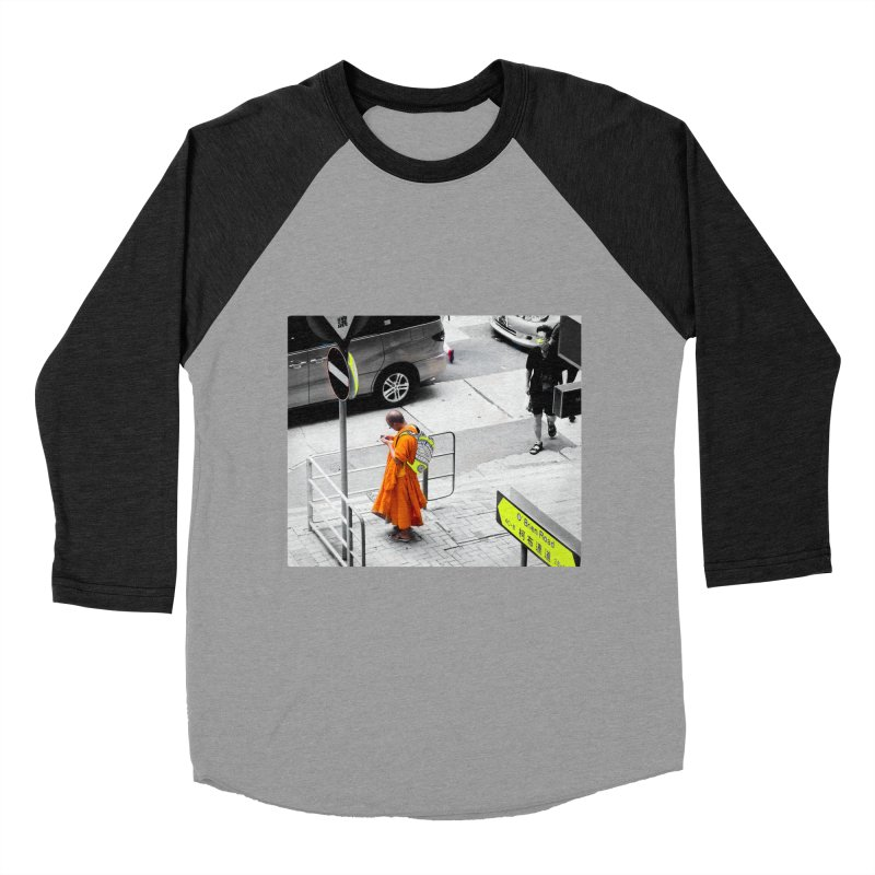Digital Monk Men's Baseball Triblend Longsleeve T-Shirt by View From Brooklyn T-Shirt Shop