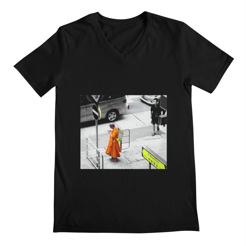 Digital Monk Men's Regular V-Neck by View From Brooklyn T-Shirt Shop