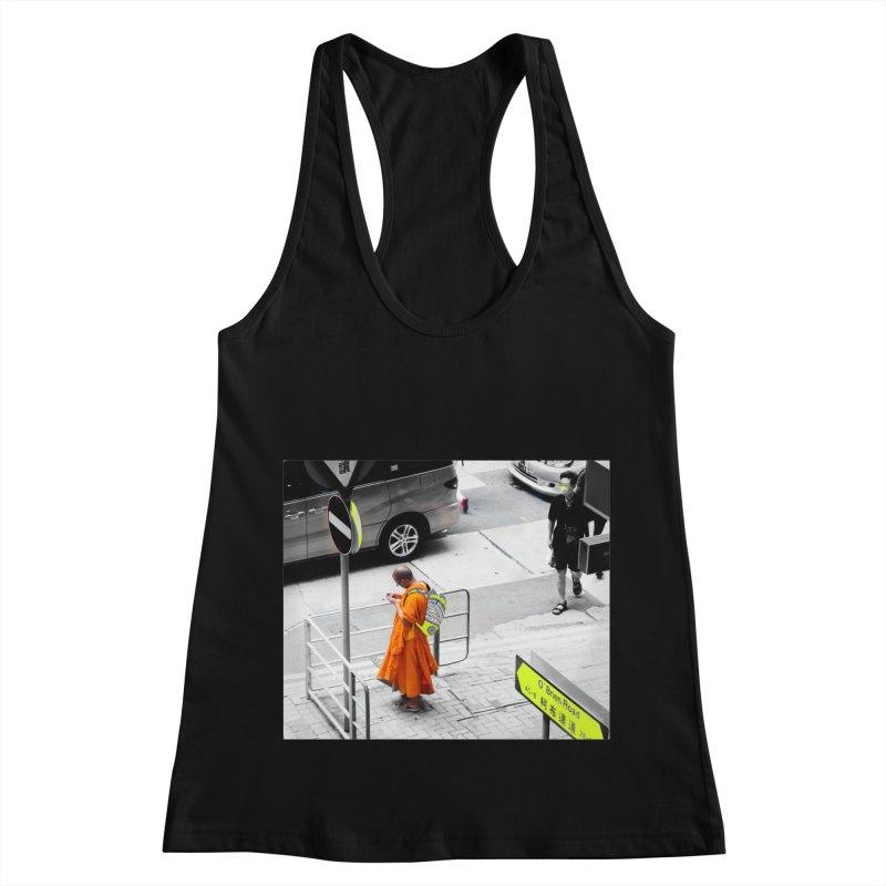 Digital Monk Women's Racerback Tank by View From Brooklyn T-Shirt Shop
