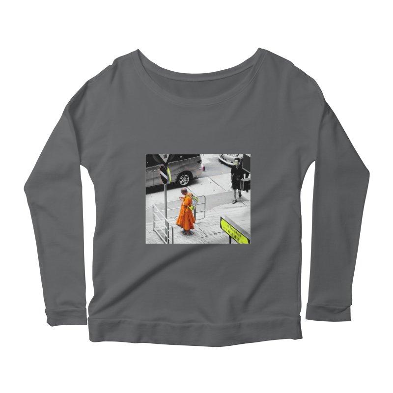 Digital Monk Women's Longsleeve Scoopneck  by View From Brooklyn T-Shirt Shop