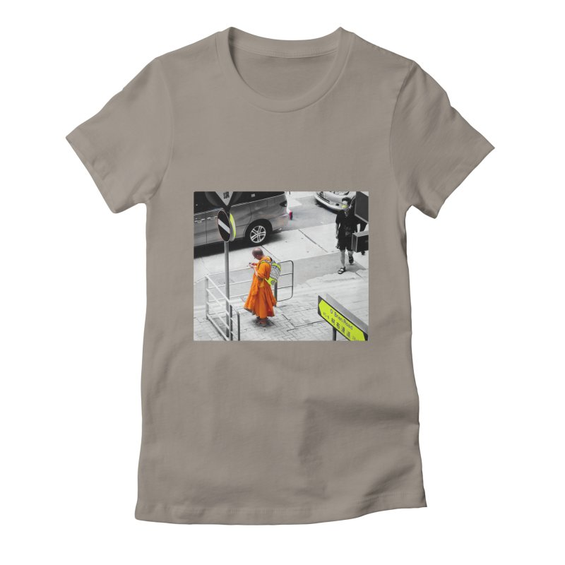 Digital Monk Women's Fitted T-Shirt by View From Brooklyn T-Shirt Shop