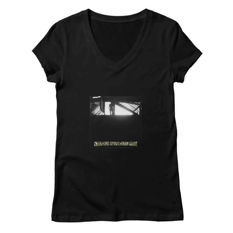 Negative Space Case Women's V-Neck by View From Brooklyn T-Shirt Shop