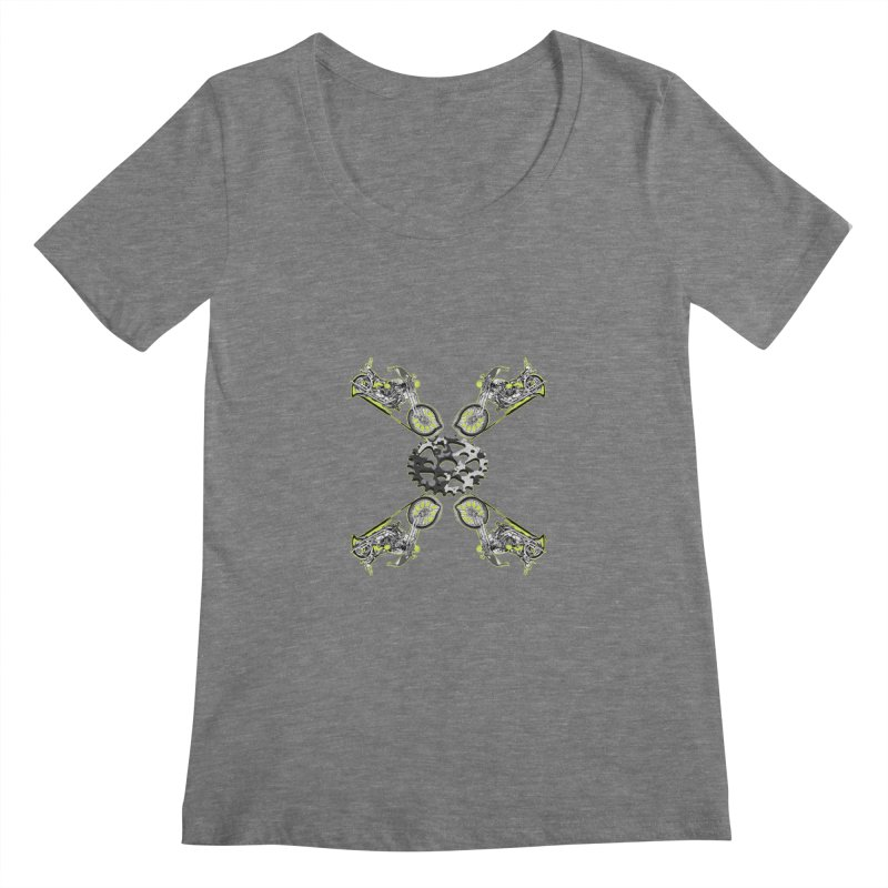 Free Ride Women's Scoopneck by View From Brooklyn T-Shirt Shop