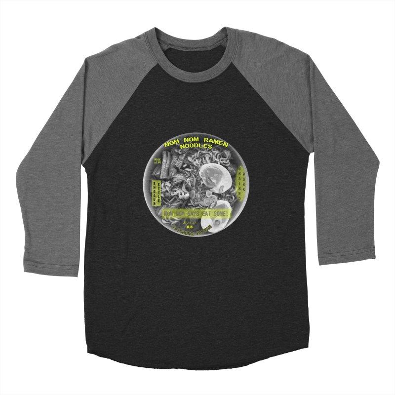 Nom Nom Ramen Men's Baseball Triblend T-Shirt by View From Brooklyn T-Shirt Shop
