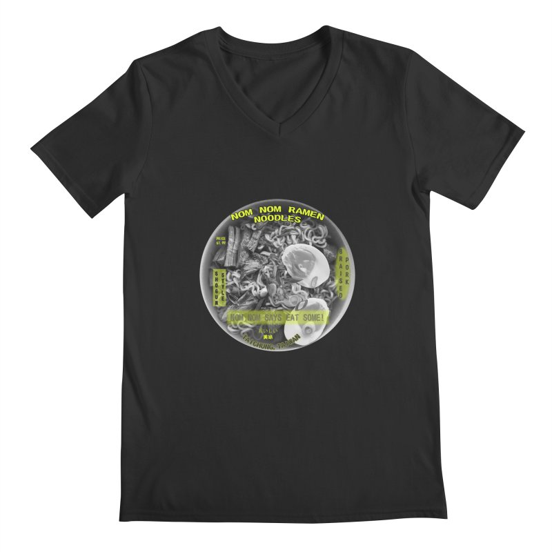Nom Nom Ramen Men's V-Neck by View From Brooklyn T-Shirt Shop