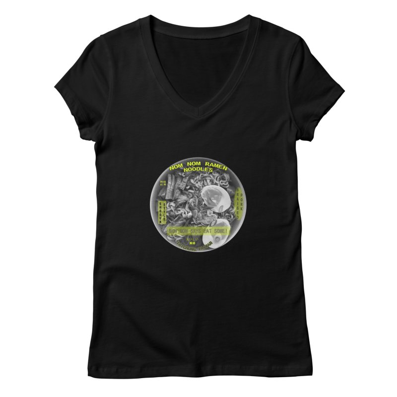 Nom Nom Ramen Women's V-Neck by View From Brooklyn T-Shirt Shop