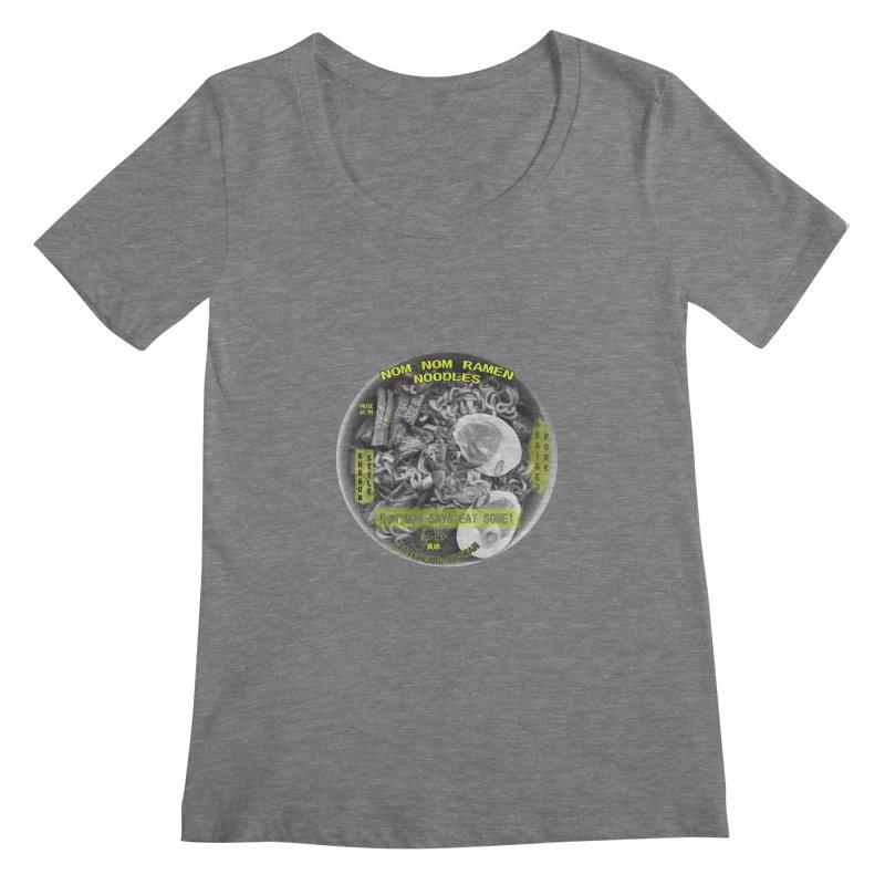 Nom Nom Ramen Women's Scoopneck by View From Brooklyn T-Shirt Shop