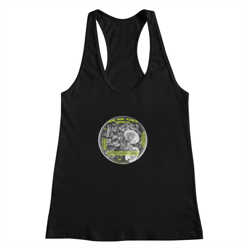 Nom Nom Ramen Women's Racerback Tank by View From Brooklyn T-Shirt Shop