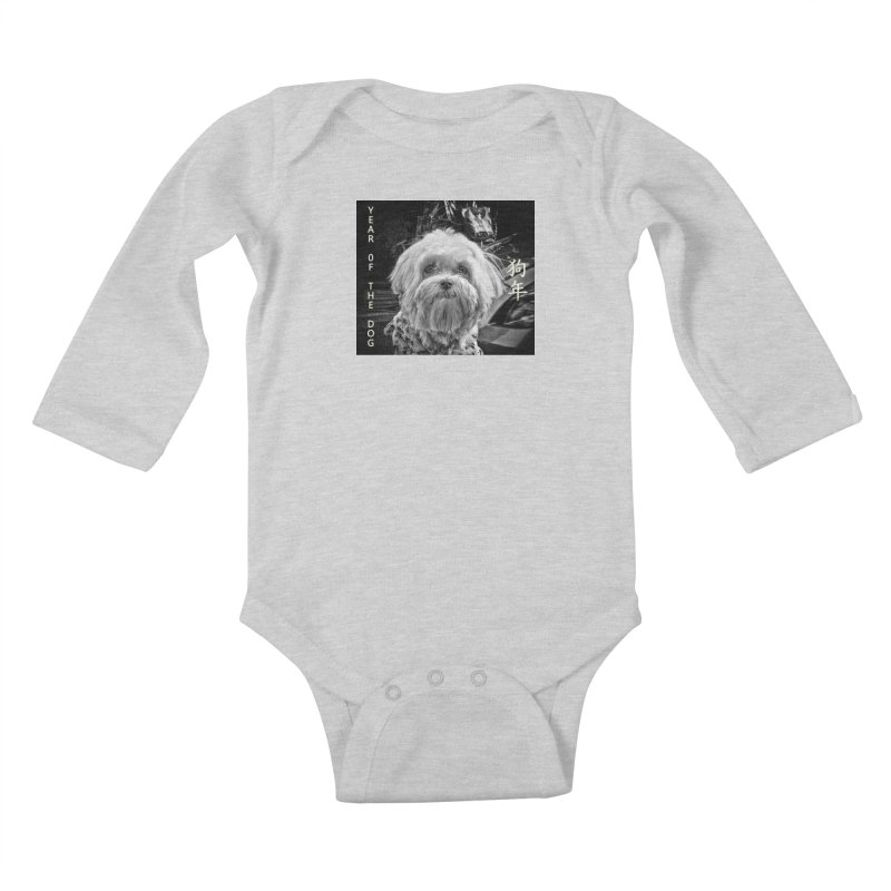 Year of the Dog Kids Baby Longsleeve Bodysuit by View From Brooklyn T-Shirt Shop