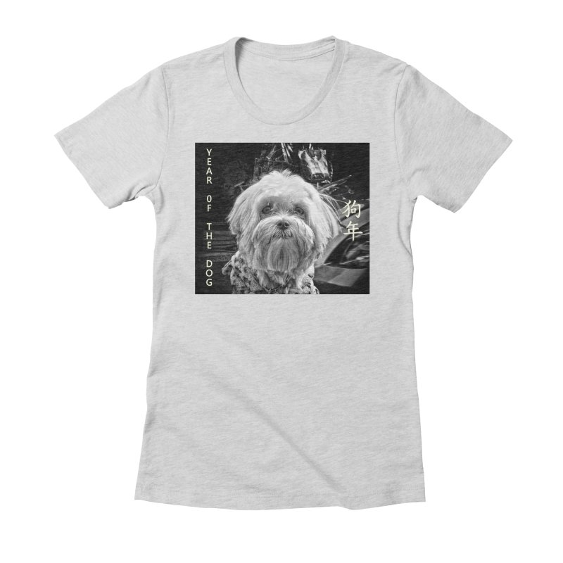 Year of the Dog Women's Fitted T-Shirt by View From Brooklyn T-Shirt Shop