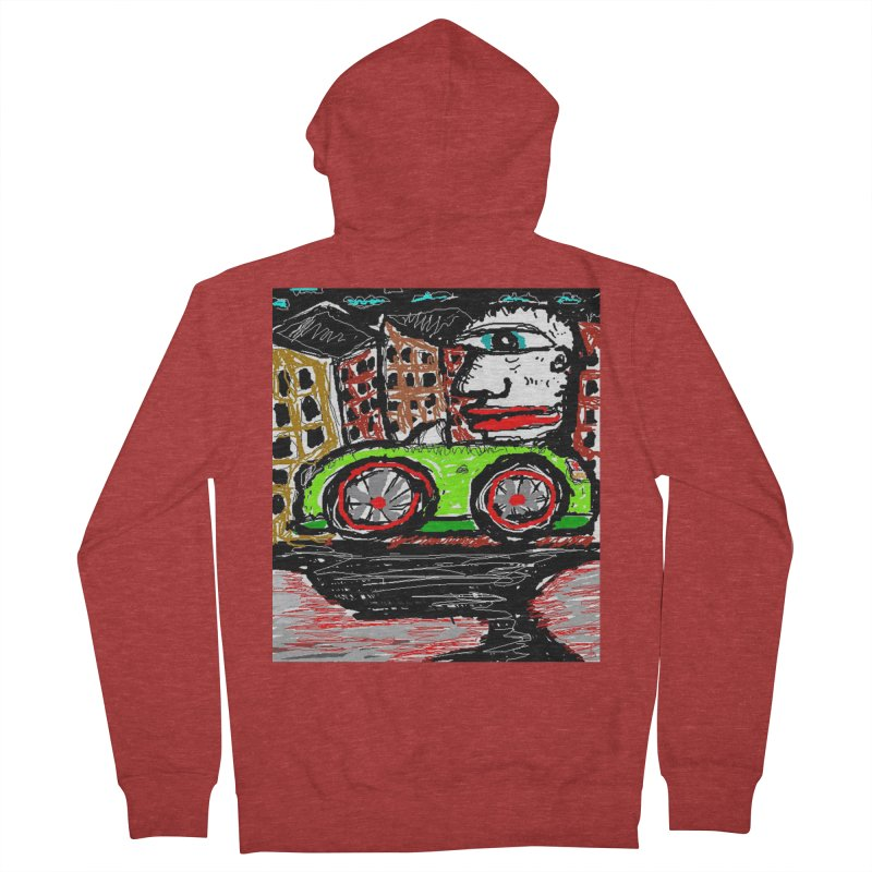 BOX CAR WILLY Women's Zip-Up Hoody by viggo's Artist Shop