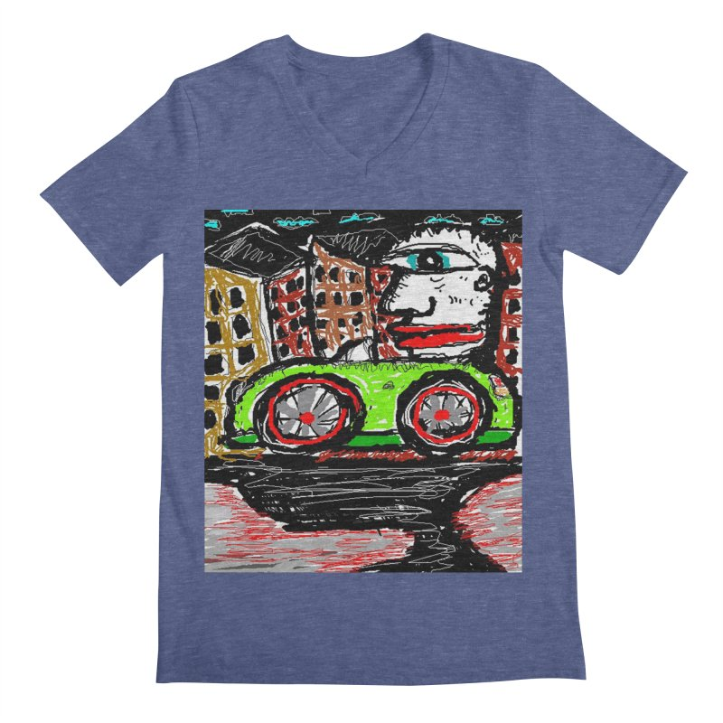 BOX CAR WILLY Men's V-Neck by viggo's Artist Shop
