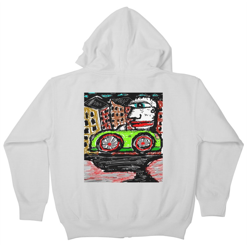 BOX CAR WILLY Kids Zip-Up Hoody by viggo's Artist Shop