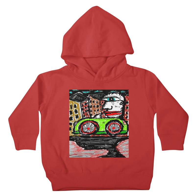 BOX CAR WILLY Kids Toddler Pullover Hoody by viggo's Artist Shop