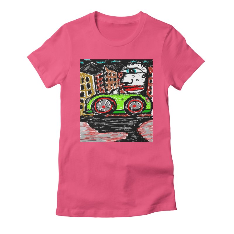 BOX CAR WILLY Women's Fitted T-Shirt by viggo's Artist Shop