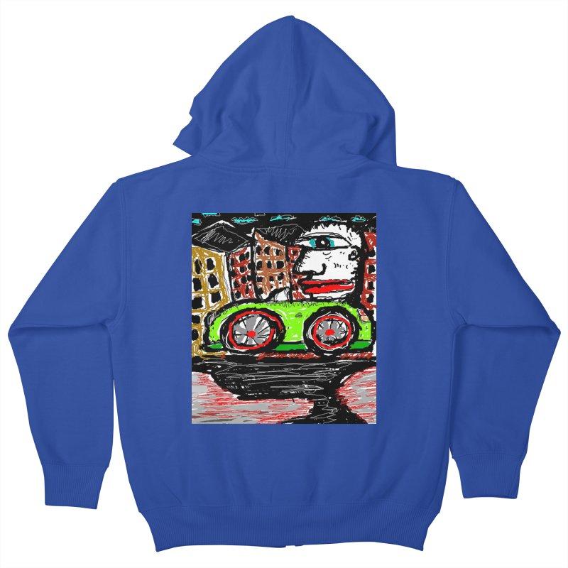 BOX CAR WILLY Kids Zip-Up Hoody by viggo's Artist Shop