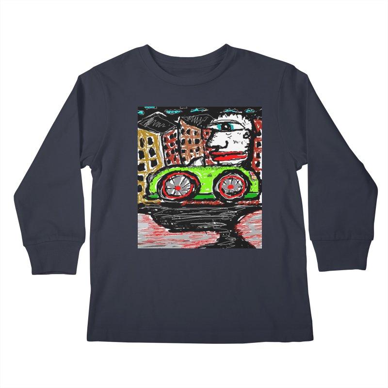 BOX CAR WILLY Kids Longsleeve T-Shirt by viggo's Artist Shop