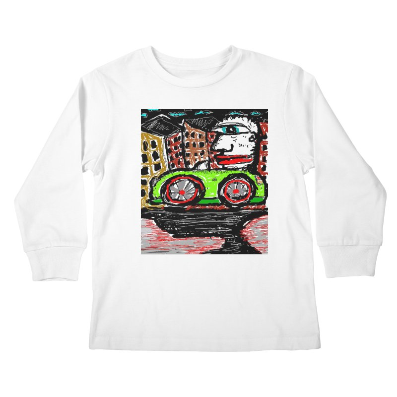 BOX CAR WILLY Kids Longsleeve T-Shirt by viggo's Artist Shop