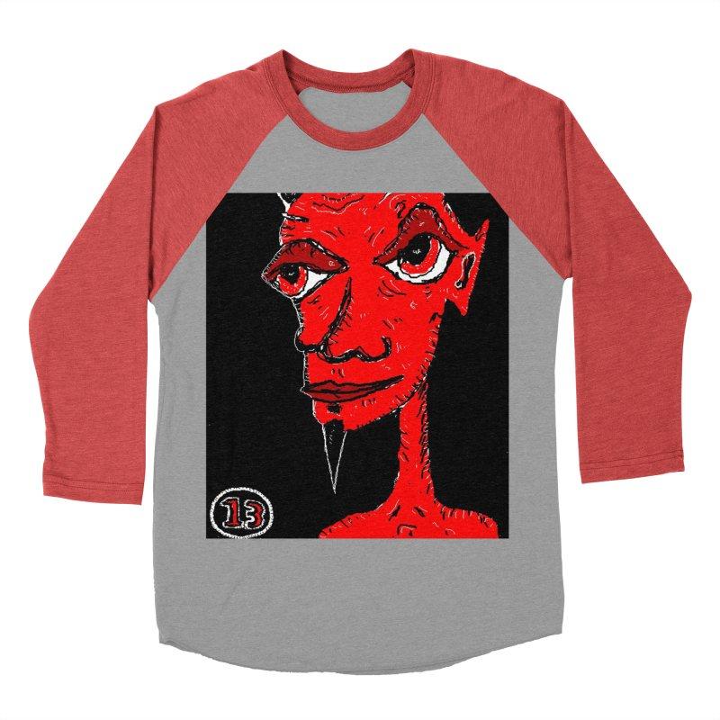 Number 13 Men's Baseball Triblend T-Shirt by viggo's Artist Shop