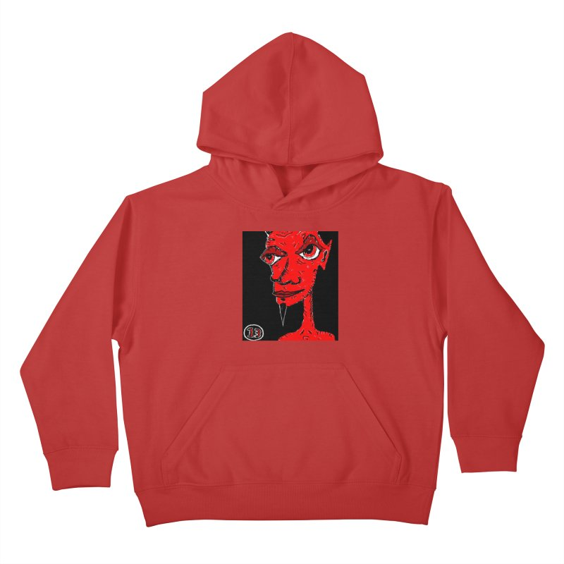 Number 13 Kids Pullover Hoody by viggo's Artist Shop