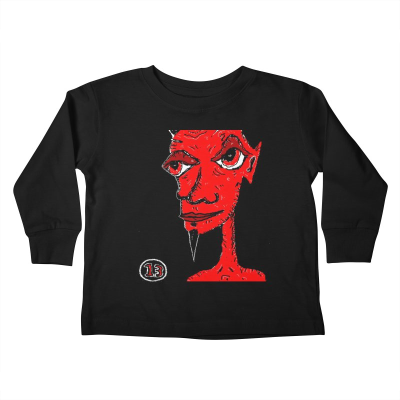 Number 13 Kids Toddler Longsleeve T-Shirt by viggo's Artist Shop