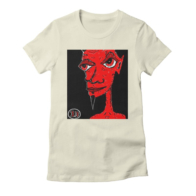 Number 13 Women's Fitted T-Shirt by viggo's Artist Shop