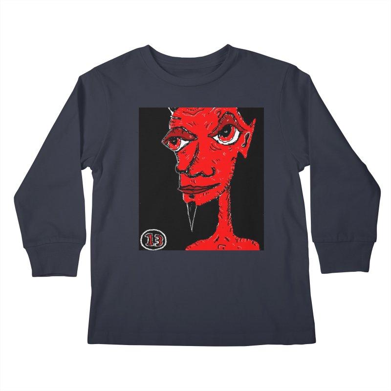 Number 13 Kids Longsleeve T-Shirt by viggo's Artist Shop