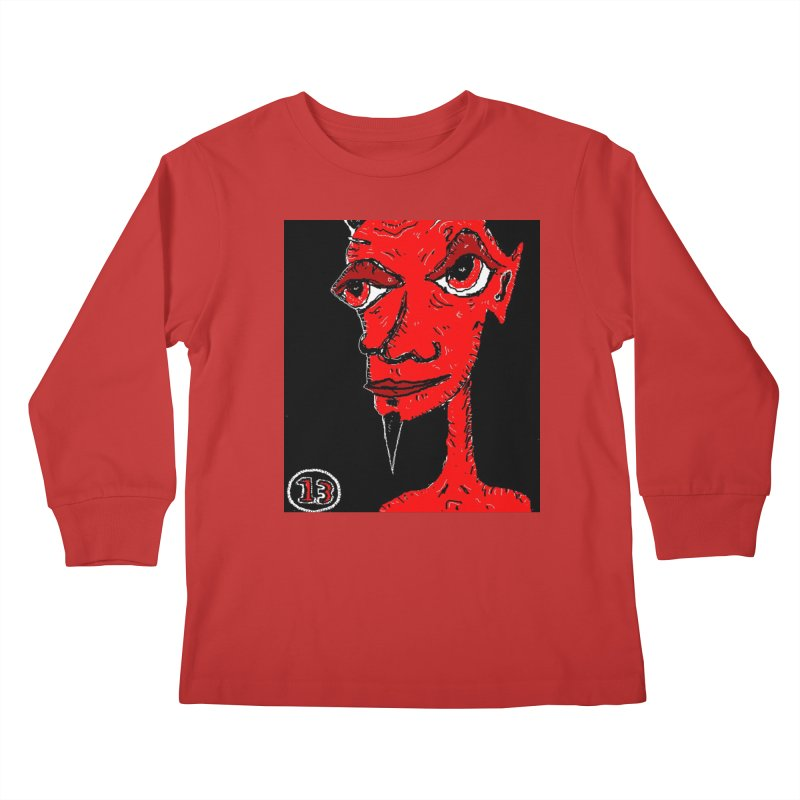Number 13 Kids Longsleeve T-Shirt by viggo's Artist Shop