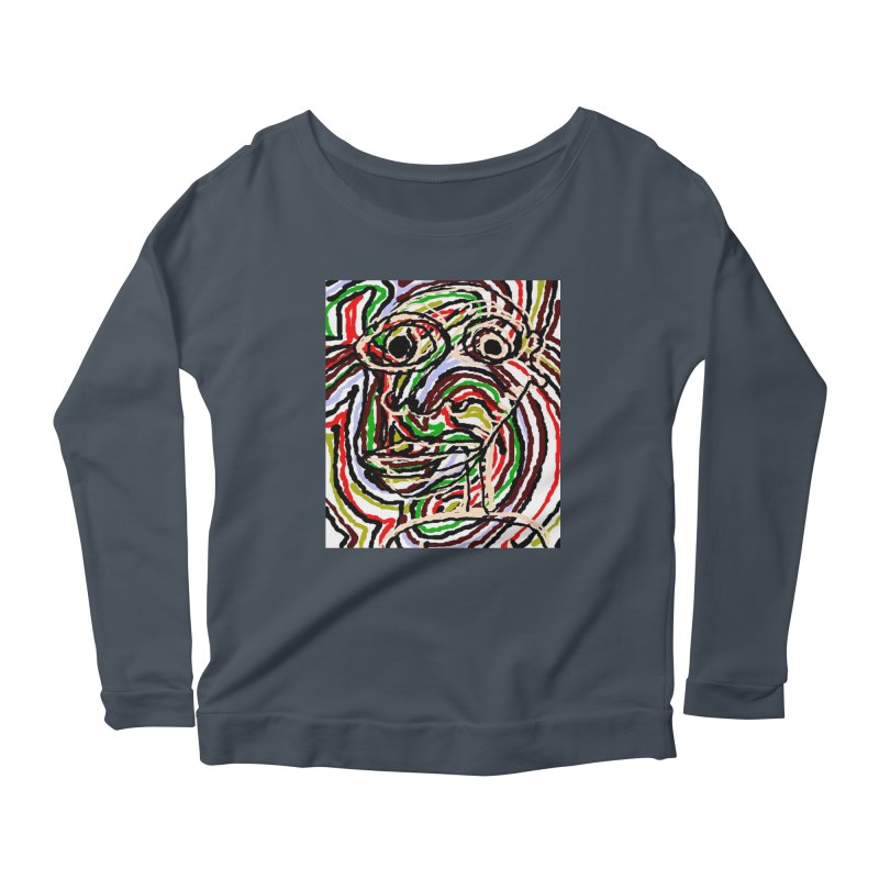 Strips Women's Longsleeve Scoopneck  by viggo's Artist Shop