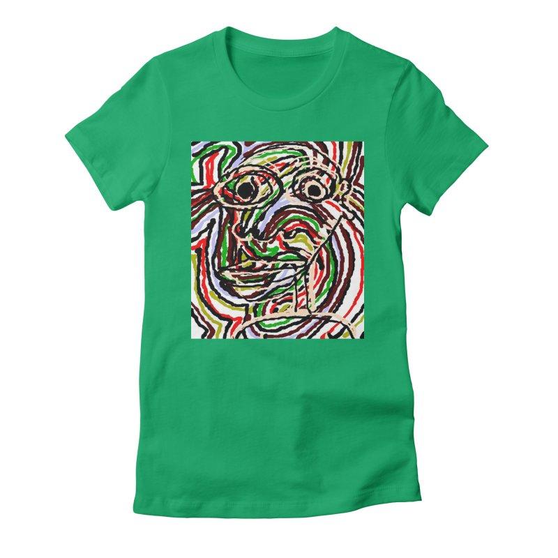 Strips Women's Fitted T-Shirt by viggo's Artist Shop