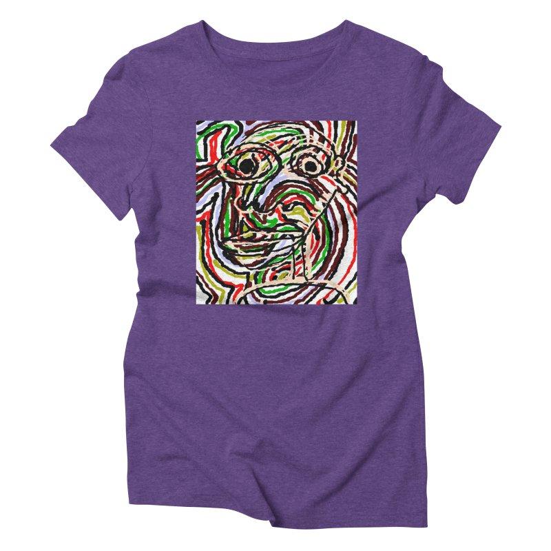 Strips Women's Triblend T-Shirt by viggo's Artist Shop